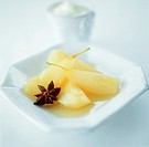 Pear compote with star anise