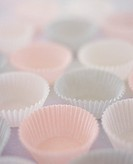 Empty paper cases for muffins, cup-cakes or sweets