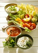 Refreshing Dips to Raw Vegetables