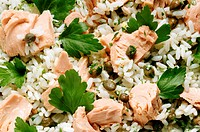 Rice Salad with Tuna & Capers