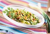 Broad bean and caraway salad