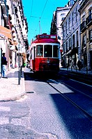 Streetcar in Lisbon, Portugal