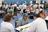 Free medical testing, Health and Fitness Expo in Miami Beach Convention Center. Florida, USA