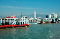 Penang ferry and waterfront, Penang, Malaysia