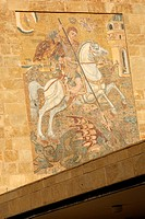 Saint George's Mosaic at Saint George's Church in Beirut, Lebanon