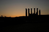 The Temple of Artemis in Jerash, Jordan
