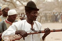 Funeral ceremony for the Hogon of Sanga, supreme religious and political leader of Dogon Country. Mali