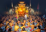 Asia, Bali, Asia, dance of the monkeys, dancers, Desa Ubud temple, Hinduism, Indonesia, Kecak, no model release, rit