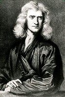 Sir Isaac Newton (1642-1727), English physicist, mathematician and alchemist. As a mathematician he discovered the binomial theorem and developed diff...