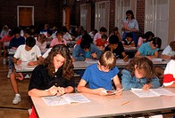 Students taking a standardized test.