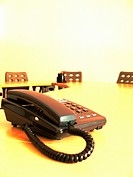 telephone in a meeting room