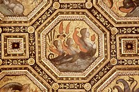 italy, rome, penitenzieri palace, soffito dei semidei by pinturicchio, 1485-1490