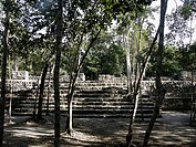 Coba, ruined city of the Pre-Columbian Maya civilization (600 A.D.). Quintana Roo, Mexico