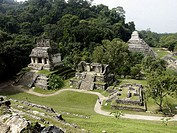 Palenque, Maya archeological site (600 - 800 A.D.). Chiapas, Mexico