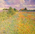 Downs Farm, Batsford, Gloucestershire 1994 Charles Neal (b.1951/British) Oil on canvas