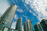 Condominium towers, Yaletown, downtown Vancouver, BC, Canada