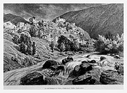 Andorra. Engraving from 'Le tour du monde'