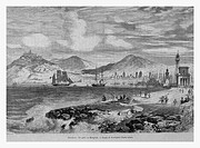 Port, Barcelona, Spain. Engraving from 'Le Tour du Monde'