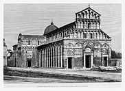 San Paolo Church, Ripa d'Arno, Italy. Engraving from 'Le Tour du Monde'