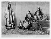 Women, Aleppo, Syria. Engraving from 'Le Tour du Monde'
