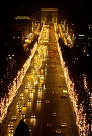 Christmas time. Champs Elysées. Paris. France