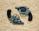 Two old revolvers