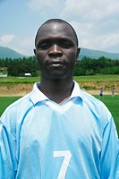 Portrait of soccer player