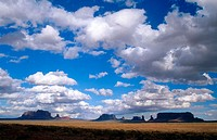 Buttes of Monument Valley Navajo reservation, Colorado Plateau. Navajo County, Arizona, USA