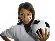 Korean female soccer fan