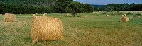 Truss of straw ready to be stocked for winter