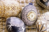 Bauble, Easter eggs, close up
