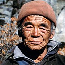 10558038, old, man, people, Nepal, Asia, Pangpoche, portrait, senior citizen, furrows