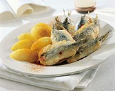Stuffed anchovies with potatoes