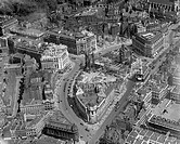 Aerial view of Bush House under construction, Aldwych, London, 1921.