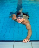 Male swimmer in pool