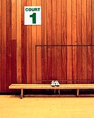 Trainers in sport court