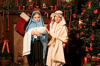 Children dressed as nativity characters