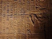 Hieroglyphs at Philae Temple, Aswan, Egypt