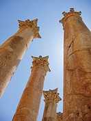 Columns at Temple of Artemis, City of Jerash, Jordan