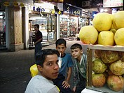 Boys at Aleppo juice bar, Syria