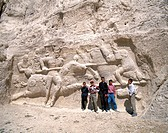 10560074, Achaemenische graves, Iran, Middle East, young, group, Naghsh e Rostam, relief, Sassaniden,