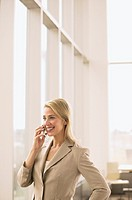 Businesswoman using a cell phone (thumbnail)