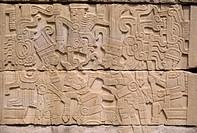 El Tajin, Fresken südlich Ballspielplatz/ Opferungsszene