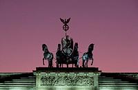Berlin, Brandenburger Tor/ Abendstimmung