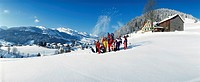 10293001, family, group picture, hill, sledge, sleigh, snow cloud, ski, snowboard, sports, winter, winter sports, sport,