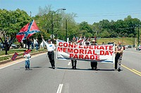 Confederate Memorial Day parade, April 24, in the southern states, yearly after the war of Northern Agression, the Civil War between the states