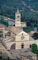 santa chiara church, assisi, italy