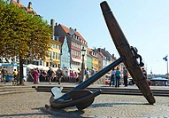 Anchor at Nyhavn, Copenhagen, Denmark