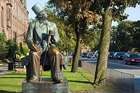 Statue of Hans Christian Andersen., Copenhagen, Denmark