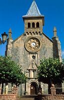 Parish church San Nicolás de Bari. Renaissance façade (1699). Burguete-Auritz. Navarra. Spain.